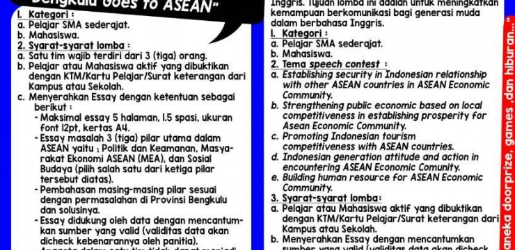 The 49th Anniversary of ASEAN – Bengkulu Goes to ASEAN